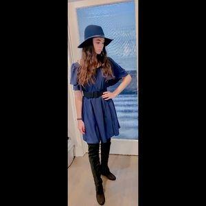 NWT Silk navy blue dress